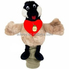 custom logo imprinted plush stuffed Goose Golf Club Cover t-shirt bib tie ribbon animal toys