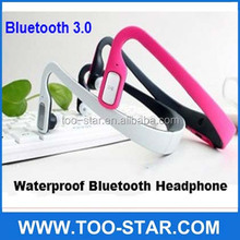 wireless waterproof bluetooth earphone headphone for sports with noise cancelling