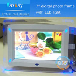 acrylic LED lighting 7inch digital picture frames
