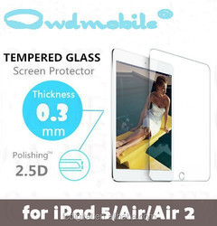 Super clear glass screen protectors for ipad mini/air transparency tempered screen films