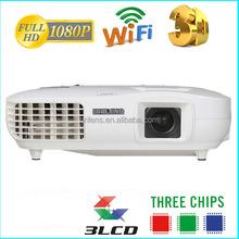 New product 2014 3LED 3LCD 3000 lumens 50000 hours video projecteur led/mini projetor baratos/ digital cinema projector