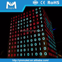 DMX512 control system outdoor full color led point light video pixel wall disco deco light