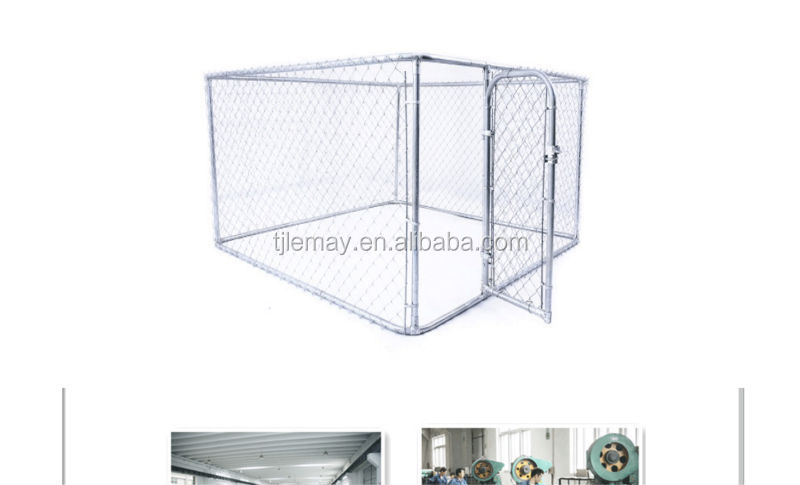 Large cheap outdoor galvanized pet dog cages