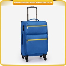 2015 new products in China luggage bag customized nylon trolley luggage travelling bag for business