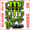high quality monster motorcycle stickers