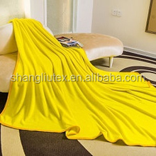Hot sale cheap polyester dyed Coral fleece bed sheet