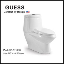 Indian one piece wash down WC toilet bowl K-A11020
