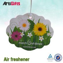 High quality custom shap car paper air freshener