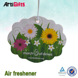 High quality custom shap car paper air freshener