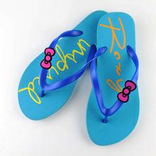 factory wholesale Summer hot sale Cute bow design pvc flip flops