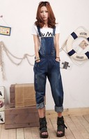 women suspender trousers jeans overalls jeans blue color sumer Leisure outdoor jeans ladies girle suspender trousers