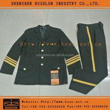 Military Green Wool army Suit for Work Uniform