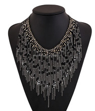 black beaded choker statement necklaces
