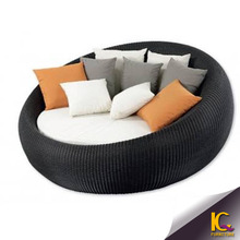 rattan round outdoor furniture waterproof outdoor daybed covers