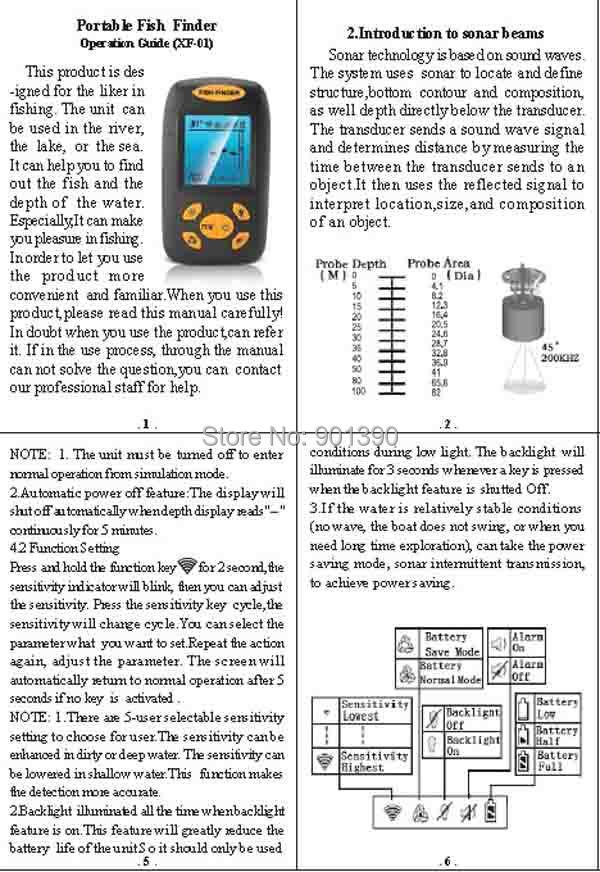 эхолот fish finder ff1108-1 инструкция на русском