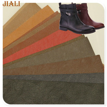 Dongguan leather factory hot sale embossed materials to make shoes/booties
