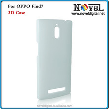 3D sublimation phone cases blanks for Oppo Find 7