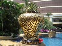 Bronze garden sculptures decoration antique vase