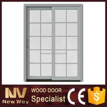 Folha dupla porta de vidro com vidro temperamento / modelos de portas e janelas de madeira