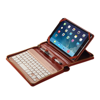 Latest bluetooth keyboard leather case cover for ipad air