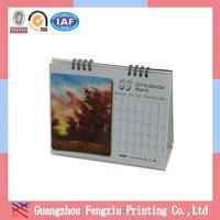 Design Free Of Charge Guangzhou Popular Paper Desktop Calendar