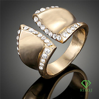 18k gold plated jewelry ring model size adjuster