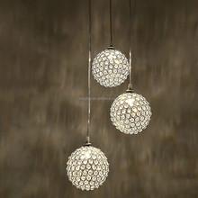 luxury round crystal ball hanging / pendant / chandelier / lighting fixture