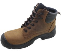 Top quality buffalo leather safety shoes