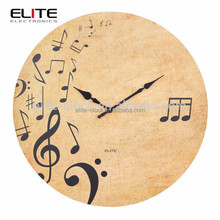 "12"" MDF wall clocks with musical notes"