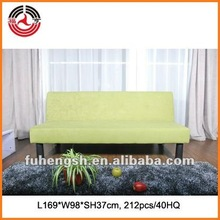 Green Fabric modern new wooden sofa design
