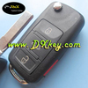 High quality 3+1 buttons car remote key with ID46 chip 315mhz 5k0837202F for VW toureg key 5k0837202f