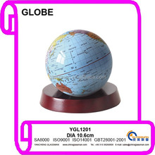 hot sales ! arts crafts good quality smooth surface earth globe with wooden base as teaching tool or decoration & gifts YGL1201