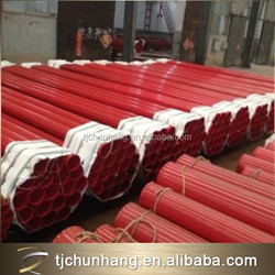 Different color rubber coated pipe for water, coated pipe, epoxy coated steel pipe price