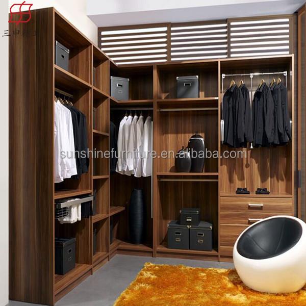 Newly Modernwood Cheap Corner Bedroom WardrobeDetachable Almirah