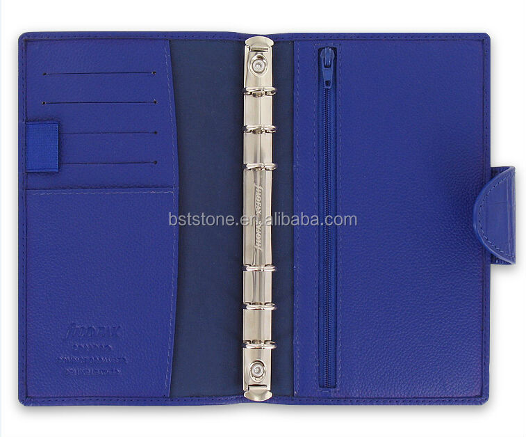 2015 Faux Leather Filler Notebook With Zipper pocket in Back