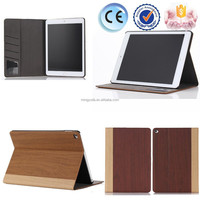 OEM Factory New Wood skin design leather flip case for ipad air 2