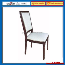 Y5972 Modern Home Furniture Fabric Leather Dining Chair Wooden Chair