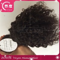 One donor 6A unprocessed afro kinky curly 100% Brazilian human hair extensions