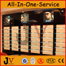 High quality eyeglass display showcase design for optical shop decoration