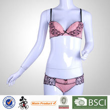 Low Price Cute Young Girl Spandex Cotton Bra And Panties Set