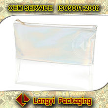 Product packaging clear plastic zipper bag