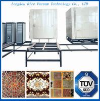 pvd earthwarer vacuum coating machine/ceramic tile production coating line/ ceramic tiles gold color vacuum metalizing equipment