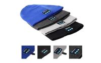 Bluetooth Music Hat Soft Warm Beanie Cap with Stereo Headphone Headset Speaker Wireless Microphone V887 1904020