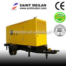 auto start control pannel mono and three phase sound attenuanted enclouser trailer generator 150 kva