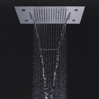 made in china sanitary ware led shower head water fall shower head ceiling rain shower
