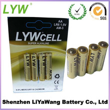 ECO-Friendly 1.5v Dry Cell Alkaline Battery LR6 AA Dry Battery 4pcs/blister card
