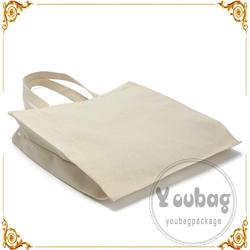 Personalized wholesale plain canvas tote bags with handle