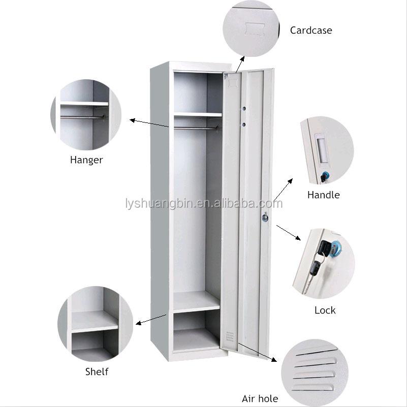 Como Funciona O Adesivo De Credito Santander ~ Fácil monte 1 puertas de acero barato vestuario de gimnasio, ropa locker gabinete, armario de 1