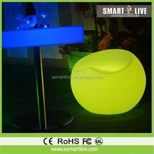 decorative LED light cube stool/chair for bar 20*20*20cm