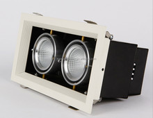 Office/show room indoor lighting 2*7W grille led down light best price super bright led grille light with CE rohs in China
